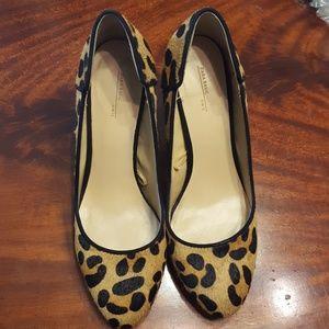 Sara Leopard Calf Hair Pumps size 37/7